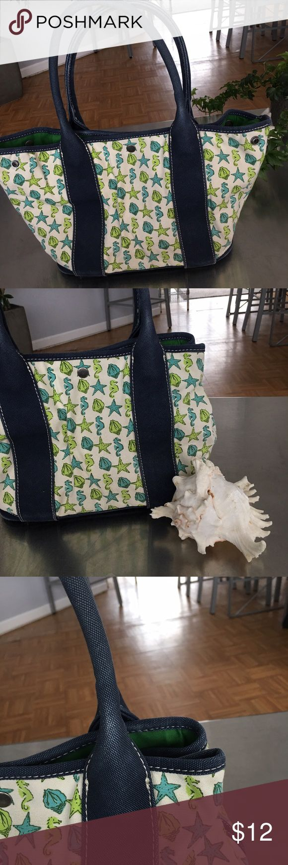 Canvas J Crew Bag Good UsedCondition some fading  on handles and bottom corners . See pic J. Crew Bags Totes
