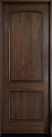 Andean Walnut Solid Wood Front Entry Door - Single