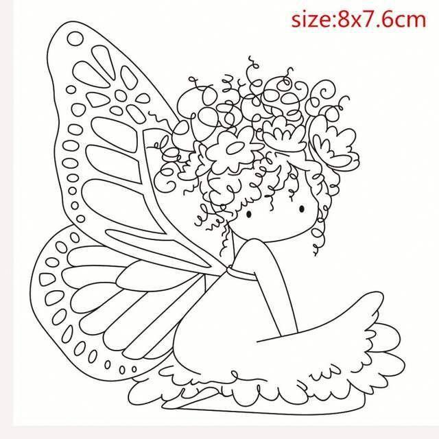 Transparent Timbres Bricolage Silicone Joints Carte Scrapbooking Faire Album Photo Decoration De La Boutique Fairy Coloring Pages Stitching Art Fairy Coloring
