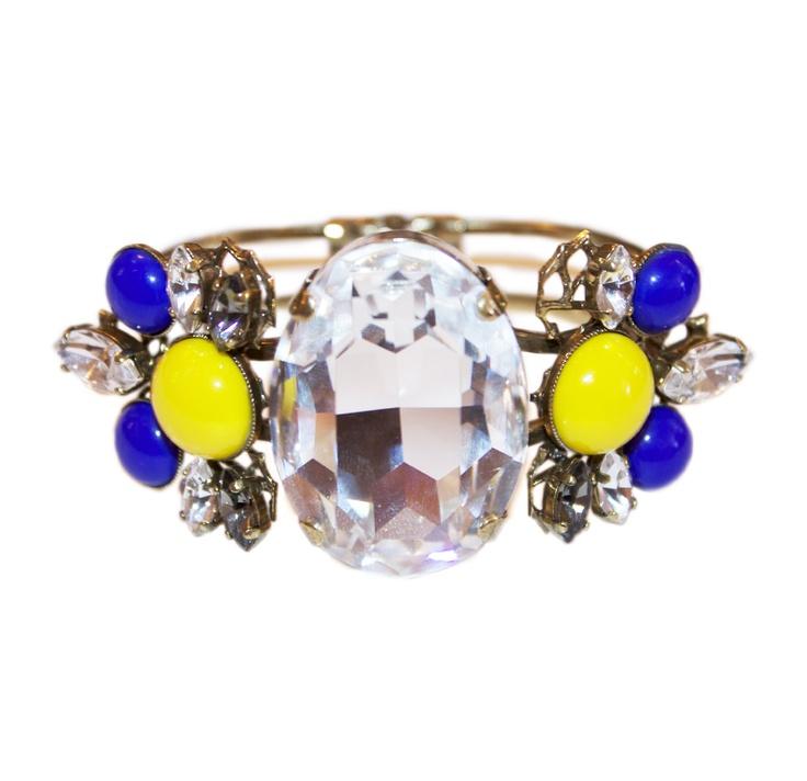 Anton Heunis Gem Cluster Cuff Bracelet