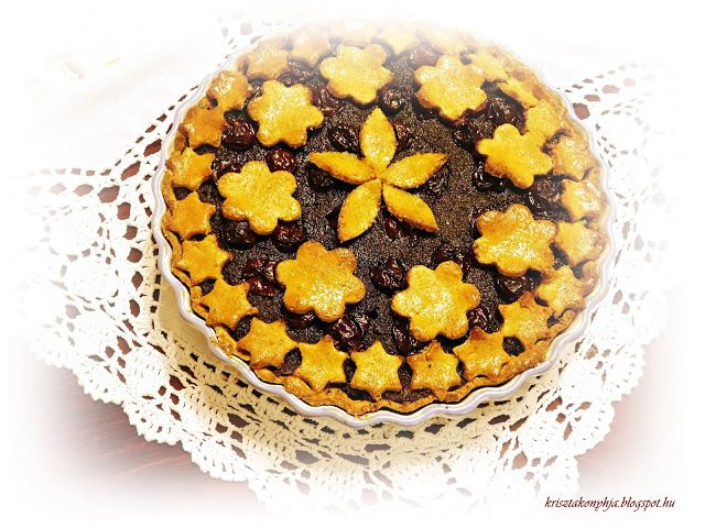 Kriszta konyhája- Sütni,főzni bárki tud!: Meggyes-mákos pite ( paleo )