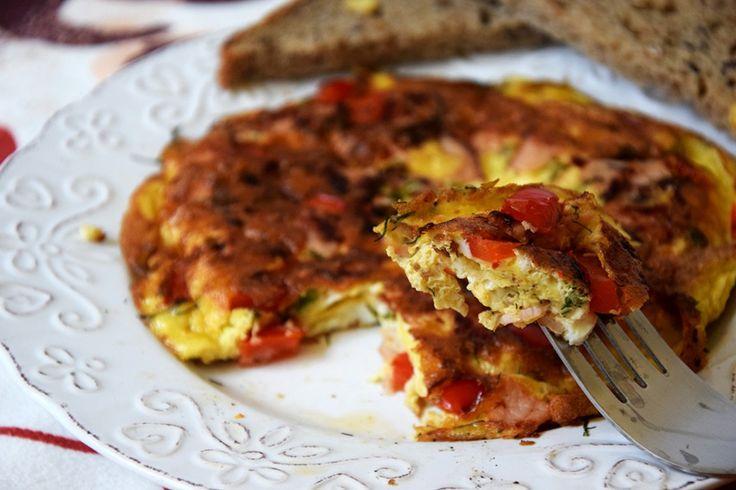 Omlet z papryką i koperkiem - FIT przepisy