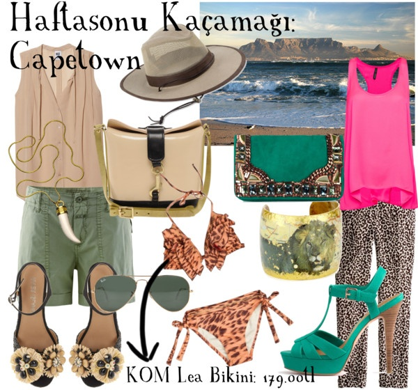 Cape Town için bavulumuz hazır. Vahşi desenli KOM bikinimiz de içinde. / Our Cape Town bag is ready with our leopard KOM bikini.