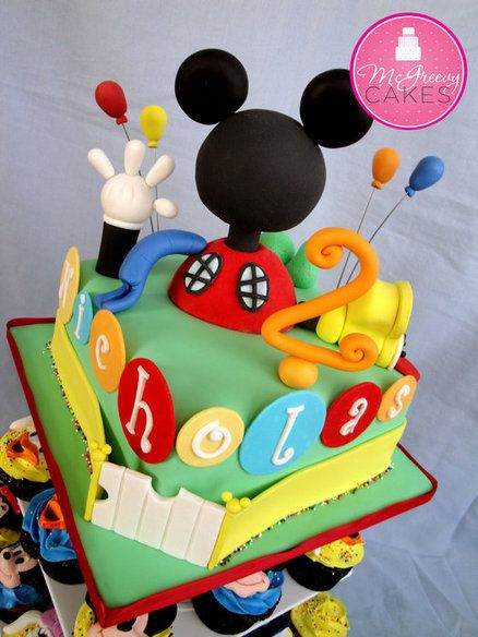 Another Mickey's Club House - by Shawna @ CakesDecor.com - cake decorating website