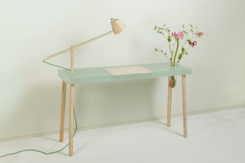 This small and beautiful writing table has been created by Amsterdam based designer Roel Huisman.