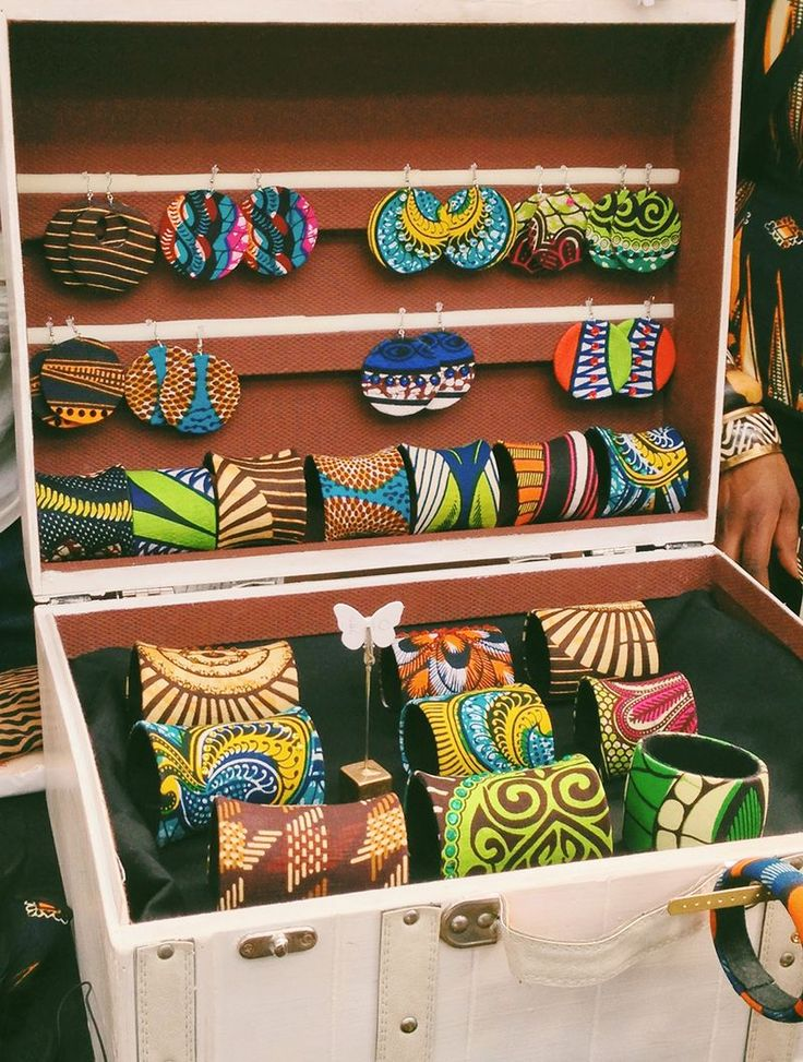 #Africanprint #waxprint #Jewellery by Evie Nix
