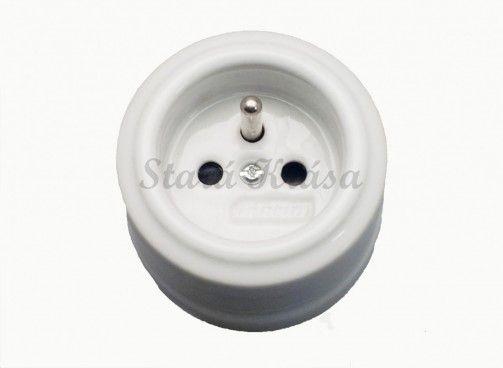 Porcelánová retro zásuvka Clasic A