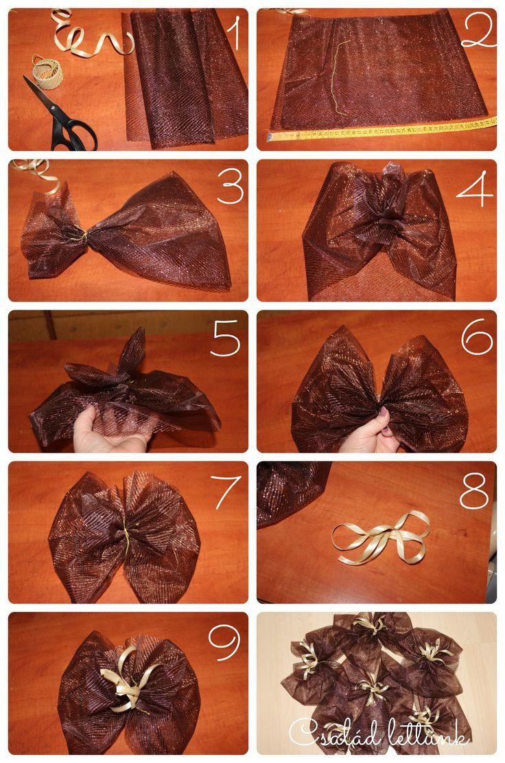 masni készítése, bow