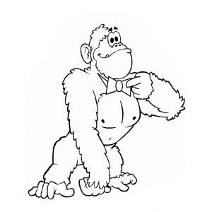Free Animals Gorilla Printable Coloring Pages For Preschool