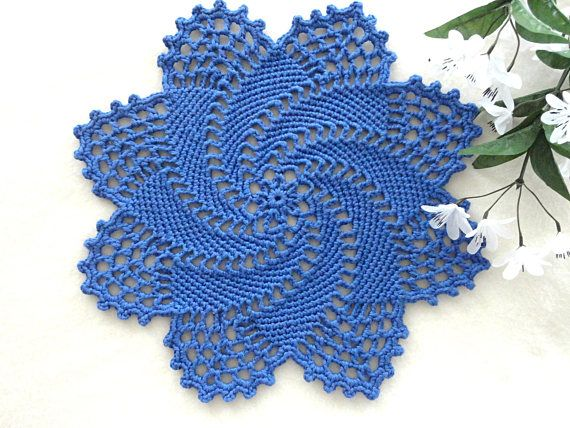 Thank you so much for visiting my store ! This listing for one Crochet Placemat. Diameter = 12 inches / 31 cm 100% Cotton Yarn. Color may vary slightly due to the color calibration of each individual monitor. ------------------------------------------------------- All items come