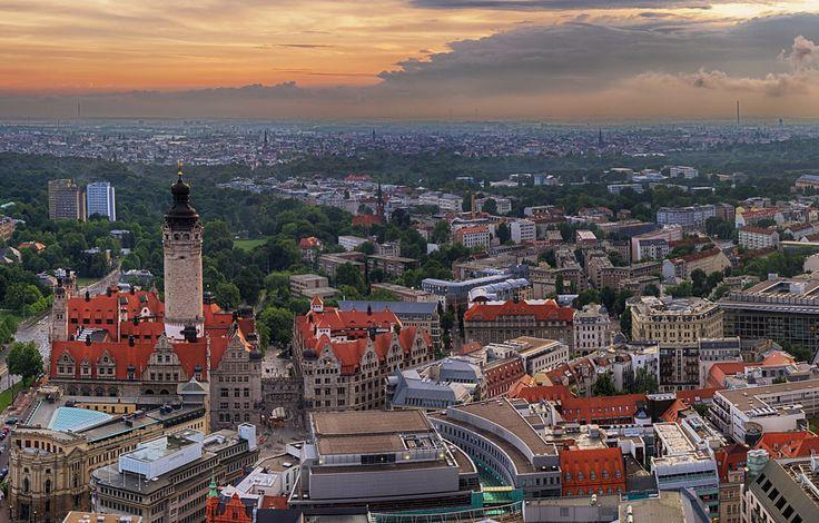 Blick vom CityHochhaus Leipzig, Bilder und Hochhaus