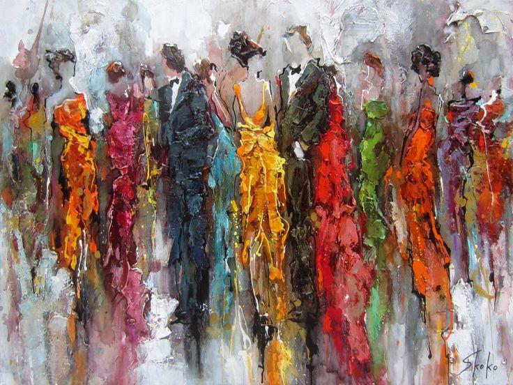Colorful ladies par Skoko, artiste présentement exposée aux Galeries Beauchamp. www.galeriebeauchamp.com