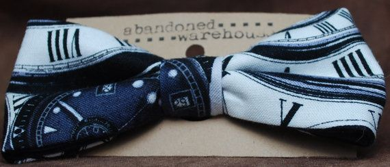 Timey Wimey bow bow tie / hair bow by AbandonedWarehouse on Etsy