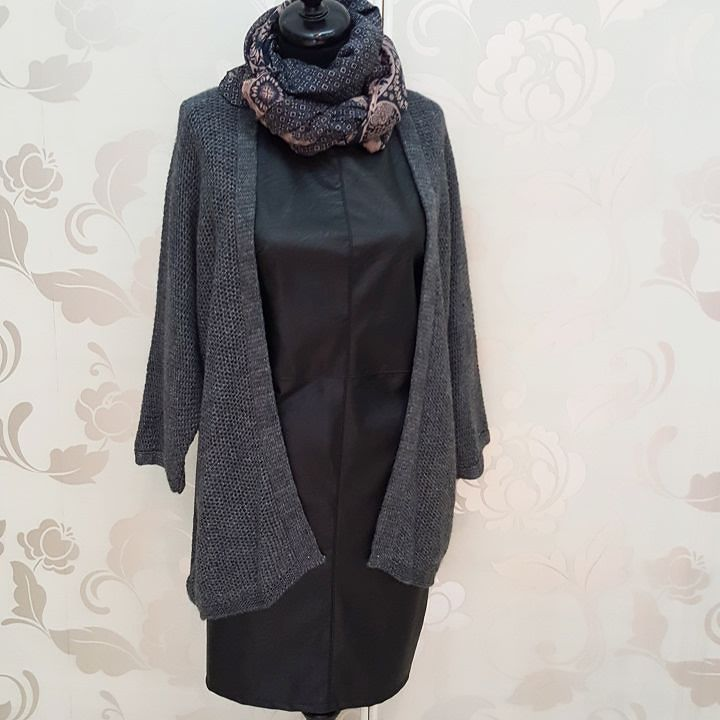 #abito #nero #similpelle #cardigan #grigio #disponibile in altri colori #valeria #abbigliamento