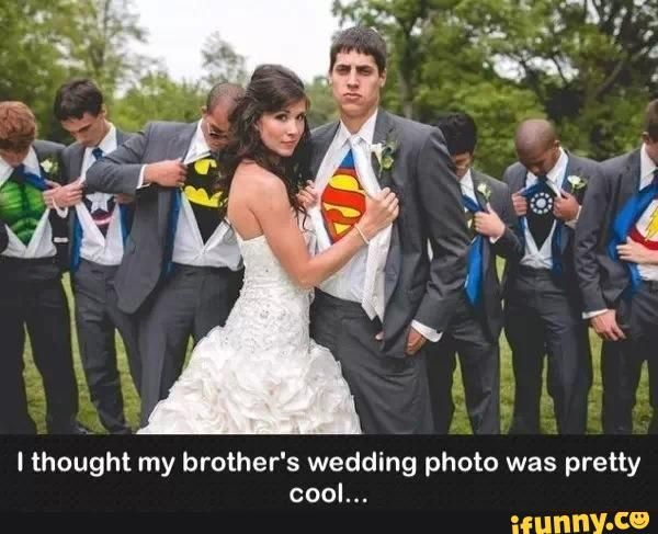 PLUS Me In A Wonder Woman Cape And Cuffs. Fabulous Superhero Wedding Photo    Visit To Grab An Amazing Super Hero Shirt Now On Sale!