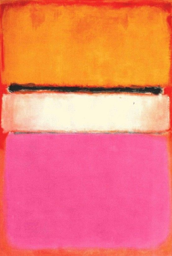 Rothko, Yellow, Pink and Lavender on Rose ORANGE GRENADINE