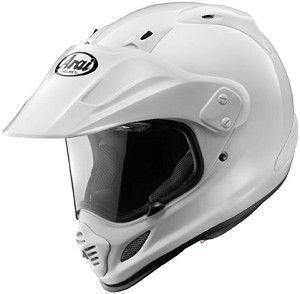 Arai XD-4 Solid Gloss White Motorcycle Adventure Dual Sport Helmet.