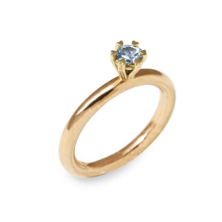 Gouden lola met topaas Phie Art Jewels: Handgemaakte sieraden