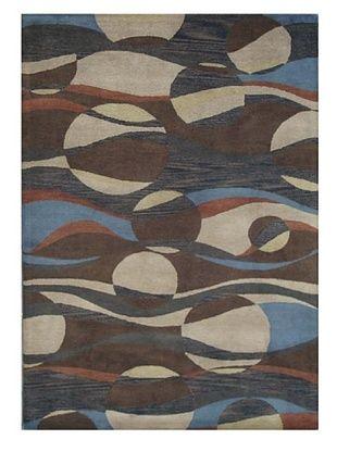 Mili Designs NYC Ocean Patterned Rug, Multi, 5' x 8'