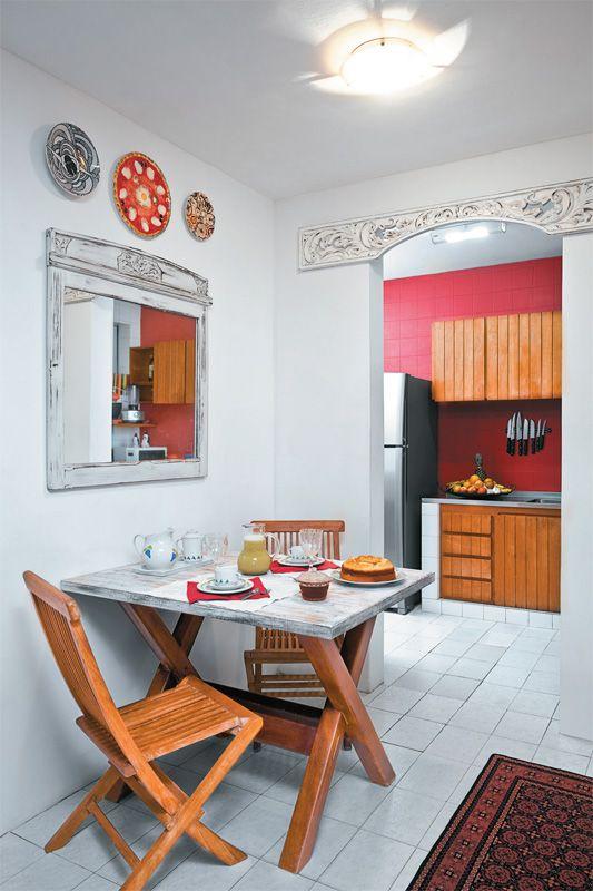 Decoraç u00e3o Opç u00e3o paraÁrea de Lazer Mesa para Refeições Pequena Simples Rustico  -> Decoração De Lanchonete Pequena E Simples
