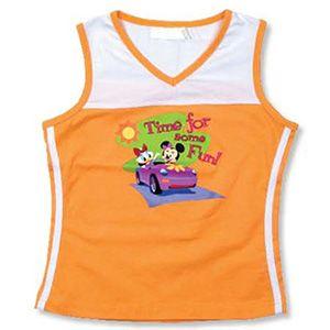 Camiseta Minnie y Daisy naranja