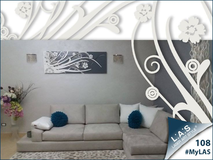 #MyLAS Welcome to this italian #home! #bedroom #design #homeinspiration #interiors http://www.laserartstyle.it/home/gallery/my-las/ ABSTRACT WALL SCULPTURES | CODE: SI-107-B | SIZE: 148x50 cm | COLOUR: brown - cream