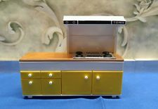 VINTAGE TOMY MINIATURE DOLLHOUSE FURNITURE STOVE TOP RANGE CUPBOARD