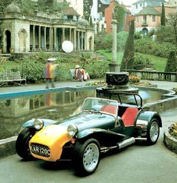 Caterham Car at Portmeirion, as used by No 6 in The Prisoner