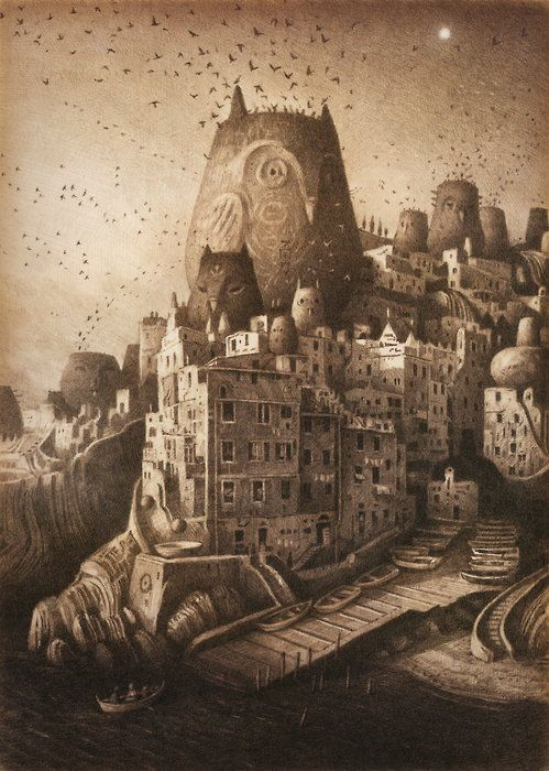 'The Place of Nests' by Australian illustrator & children's book author Shaun Tan (b. 1974). via An Illustrator's Inspiration