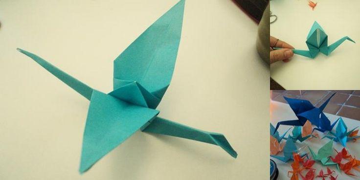 Como hacer una grulla de origami - http://www.manualidadeson.com/como-hacer-una-grulla-de-origami.html