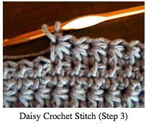 by M. J. Joachim   Updated 4/19/16         The daisy crochet stitch is a fun and versatile stitch that works up fairly quickly. I've m...