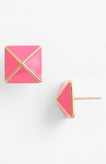Colorful, geometric kate spade new york stud earrings.