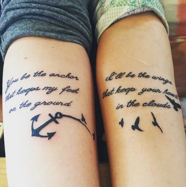 Cool Friendship Tattoos Design and Ideas