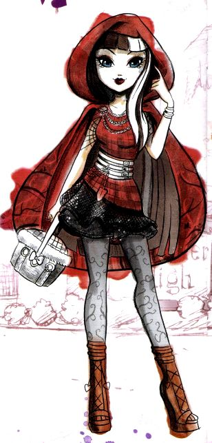 Cerise hood daughter of little red riding hood