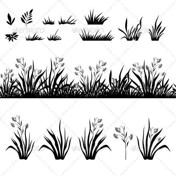 25 best images about PLANT AND GRASS SILHOUETTES on Pinterest