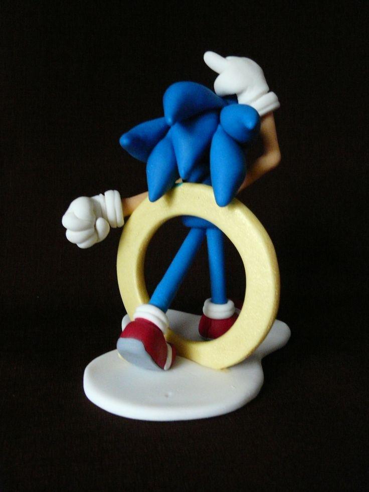 Figurka Sonic Gumpaste Fondant