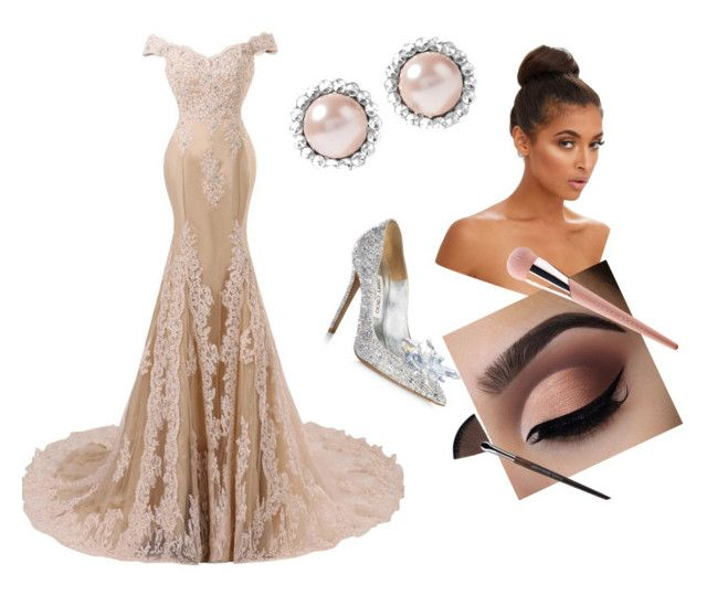 Gala by madison-cumby on Polyvore featuring polyvore, fashion, style, Jimmy Choo, Miu Miu, MAKE UP FOR EVER, Puma and clothing