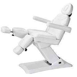 Eyja Podiatry Chair / Facial Chair / Tattoo Chair - The Eyja is an upmarket podiatry chair / facial chair / tattoo chair with very stable structure. 3 motors control height, backrest and seat inclination movement. Independently adjustable leg-rests