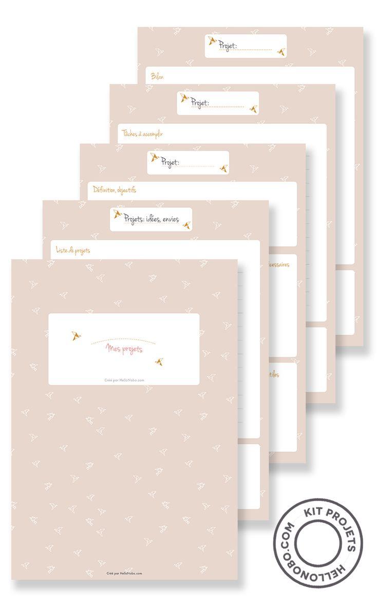 J'ai toujours des dizaines de projets en tête. J'ai donc créé des fiches  pour tout coucher sur papier, me rappeler de toutes mes envies, mais  surtout pour passer à l'action en décortiquant chaque projet en tâches  simple à accomplir. Je vous propose de télécharger ces fiches en fin  d'article.