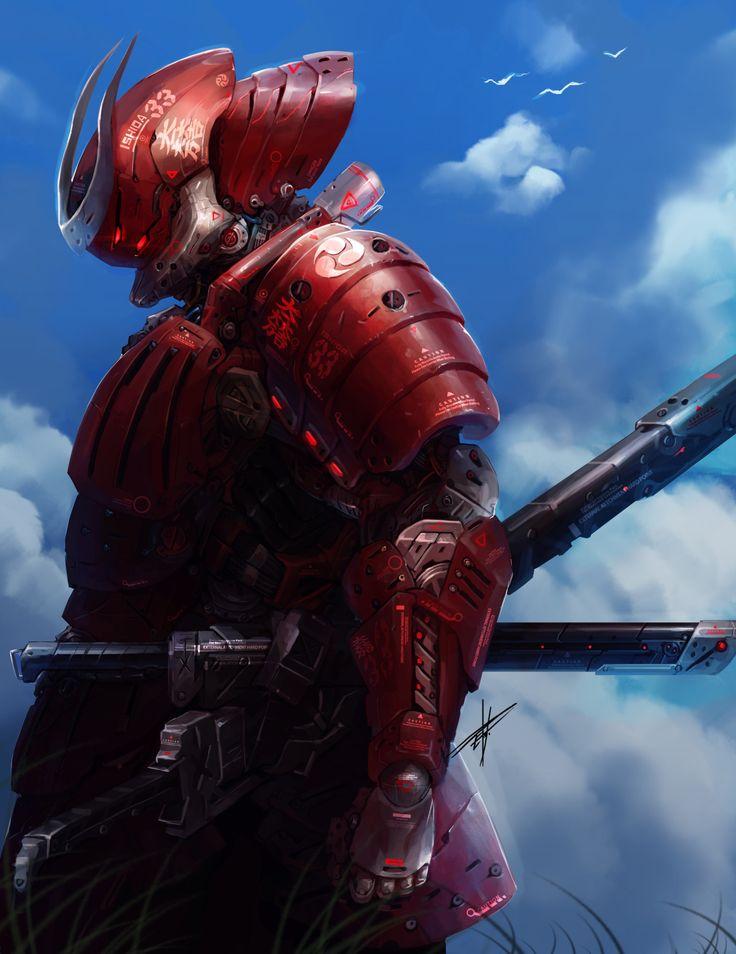 Oniric Realms — cinemagorgeous:   Cyborg Samurai by artistEriko...