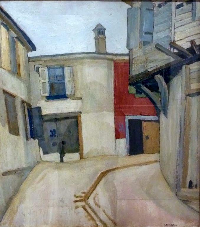 Δημοτική Πινακοθήκη Αθηνών – Municipal Art Gallery of Athens.Παπαλουκάς Σπύρος-Road in Agiassos