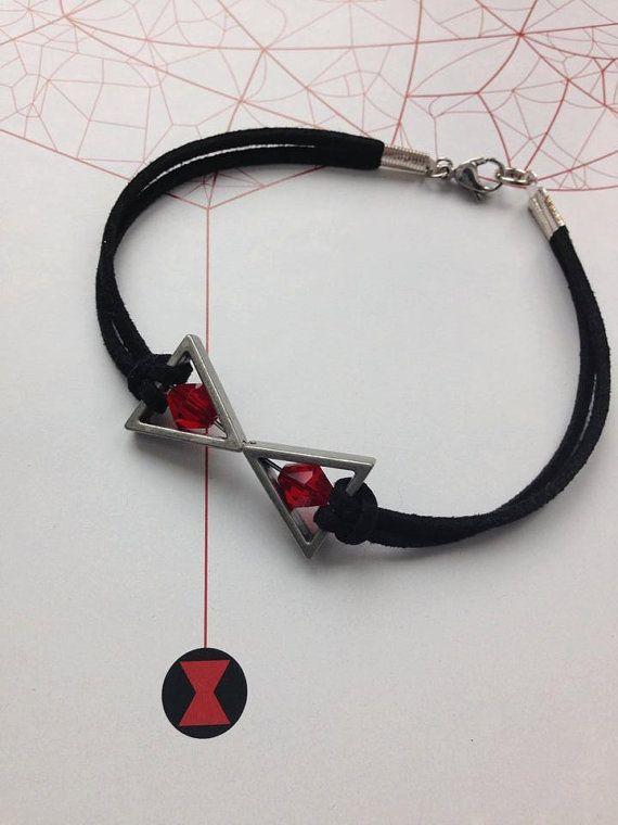 Black Widow Bracelet Natasha Romanoff by BombDotComGeekery #Avengers #BlackWidow