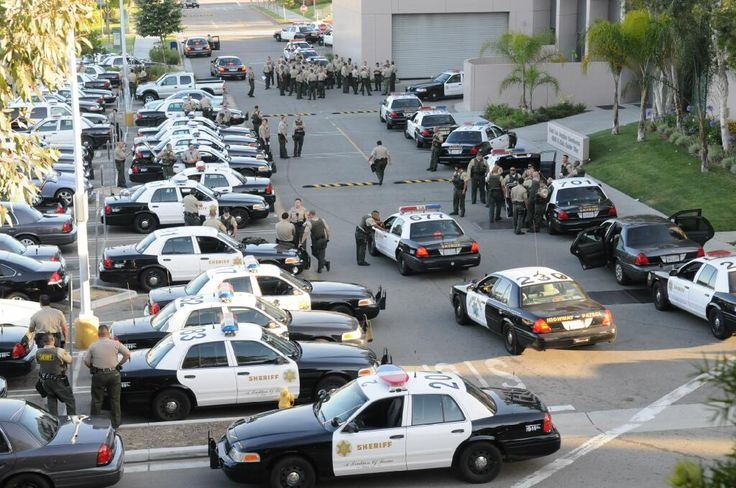 LA County Sheriff's Dept. Preparing to Deploy from the Command Post. Sep 26, 2013. (Photo Credit: C. Miller)