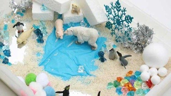 winter sensory bin - happy hooligans - icy activity bin cbc parents