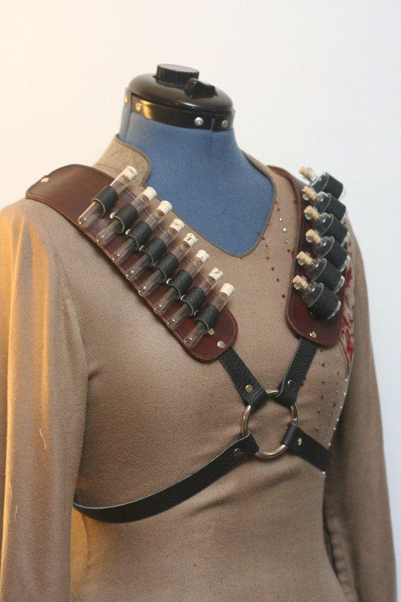 Steampunk Alchemist X-shaped Harness by Versalla on Etsy