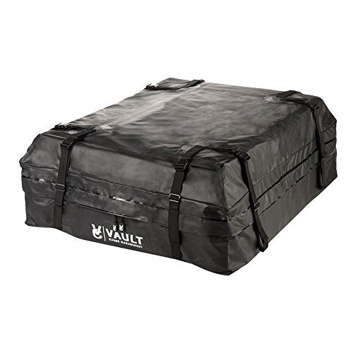 Waterproof Canvas Cargo Storage Roof Bag by Vault Cargo – On top of Car Bag - Straps to Crossbars or a Roof Basket - Waterproof Carrier Bag Has 15 Cubic Feet of Capacity – Fit for the Outdoor Elements. For product info go to:  https://www.caraccessoriesonlinemarket.com/waterproof-canvas-cargo-storage-roof-bag-by-vault-cargo-on-top-of-car-bag-straps-to-crossbars-or-a-roof-basket-waterproof-carrier-bag-has-15-cubic-feet-of-capacity-fit-for-the/