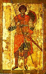 "George of Lydda also known as St. George the Dragonslayer.  Born in Turkey of ""Black"" Palestinian parentage, AKA the patron saint of England   St George is the Patron Saint of England and one of the most famous of Christian figures."