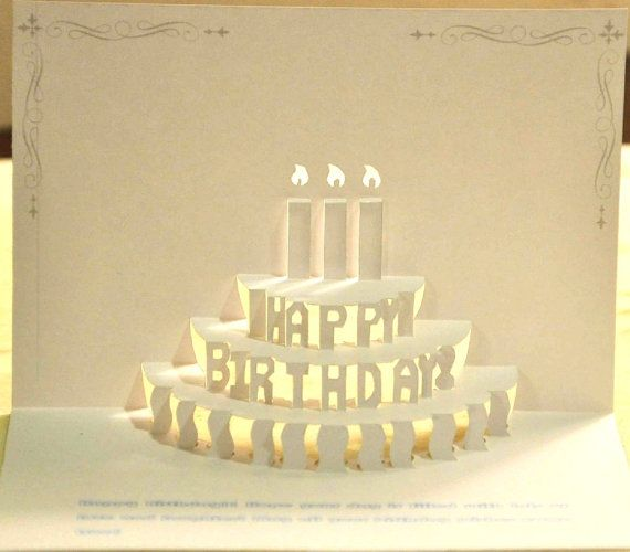 143 best kirigami card patterns images on Pinterest Paper - birthday cake card template
