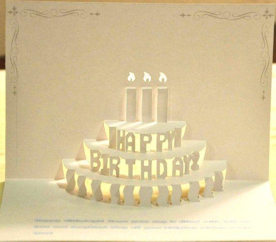 708 best kirigami images – Pop Up Birthday Cake Card