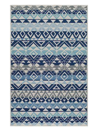 Veranda Indoor Outdoor Rug By Momeni Multi Blue Gilt